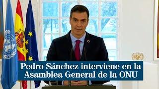 """Sánchez en la ONU: """"Tenemos el deber de dar un horizonte de esperanza a los jóvenes"""""""