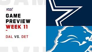 Dallas Cowboys vs Detroit Lions Week 11 NFL Game Preview