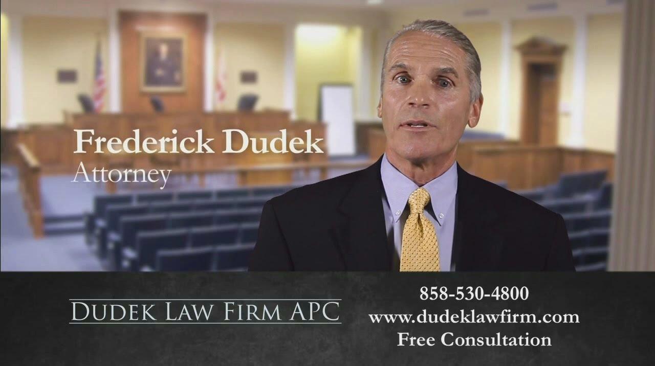 Meet San Diego Injury Attorney Frederick M. Dudek