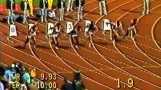 European Championships 1986 100m Decathlon