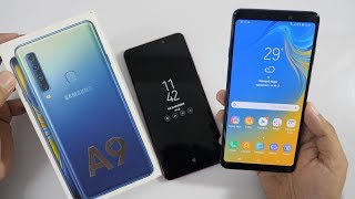 Samsung Galaxy A9 (2018) Unboxing & Overview with Quad Rear Cameras
