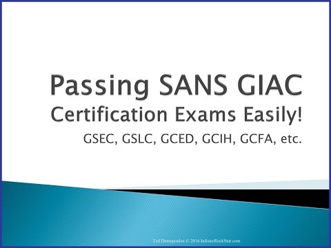 Passing SANS GIAC Certifications made Simple - YouTube