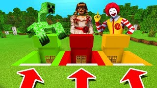 Minecraft PE : DO NOT CHOOSE THE WRONG BUNKER! (Mutant Creeper, Annabelle & Ronald McDonald)