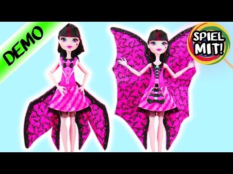 Monster High DRACULAURA Puppe | VERWANDLUNG MONSTERSCHÜLERIN in FLEDERMAUS | Demo
