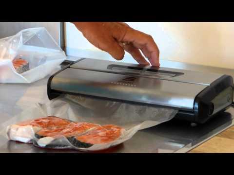 Envasadora de vacío Garhe Compact - Envasando al vacío pescado