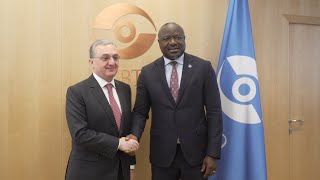 Foreign Minister Zohrab Mnatsakanyan met with Lassina Zerbo, Executive Secretary of the Comprehensive Nuclear-Test-Ban Treaty Organization
