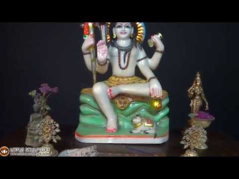 White Marble Shiva Sculpture 23