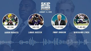 Aaron Rodgers, Lamar Jackson, Jimmy Johnson, Marshawn Lynch (1.13.20) | UNDISPUTED Audio Podcast