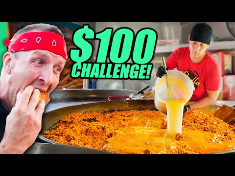 $100 Food Truck Challenge!! USA's Street Food of the North!!