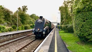 Union Of South Africa 60009 Roars Through Bruton On The Last Torbay Express On Sunday 8th Sept 2019