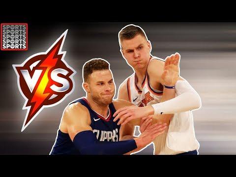 Porziņģis Battles With Blake Griffin