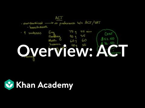Overview of the ACT (video) | Khan Academy