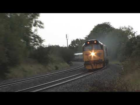 50007 'Hercules' & 50049 'Defiance' power past Burlescombe w…