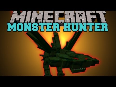 Minecraft : MONSTER HUNTER (BOSSES, MOBS, HUGE WEAPONS, 2 BIOMES) Mod Showcase