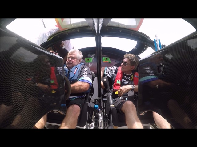 Offshore Racing Cockpit Video Strapping In