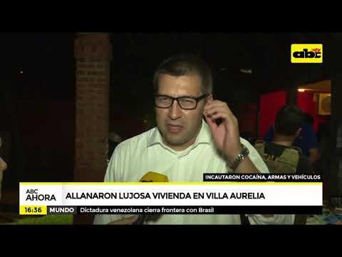 Allanaron lujosa vivienda en Villa Aurelia