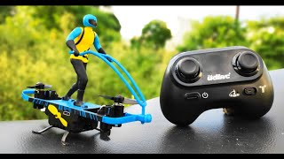 Flying motorcycle Drone | 2.4Ghz RC Drones with Auto Hovering Headless Mode | 4 CH Flying Bike Drone