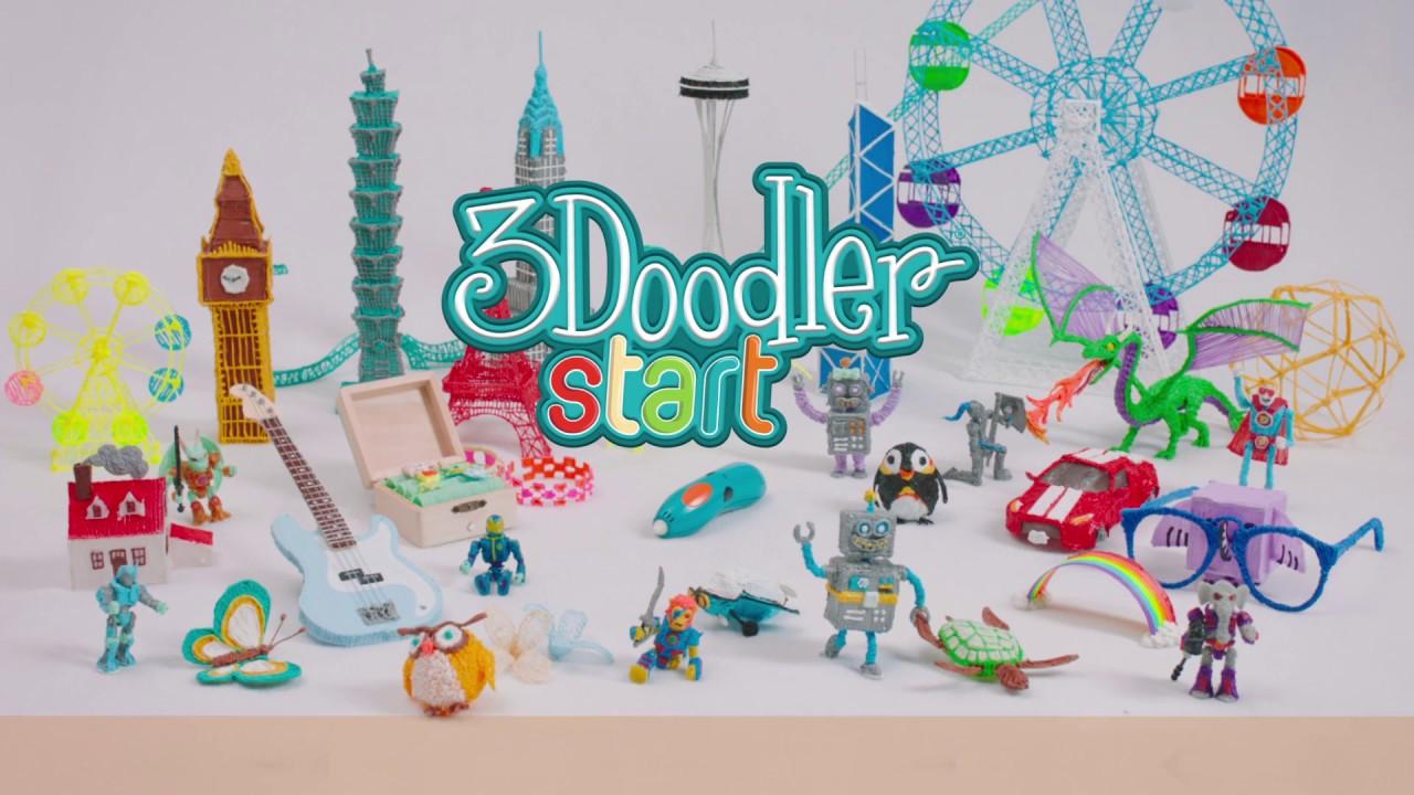 3D-ручка 3Doodler Start для детского творчества - Креатив прозрачная (48 стержней) 8SPSESCL3R video preview
