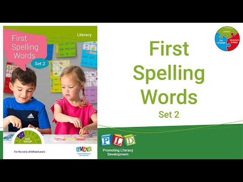 First Spelling Words - Set 2