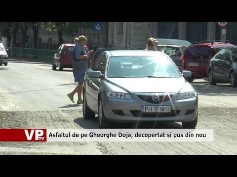 Asfaltul de pe Gheorghe Doja, decopertat și pus din nou