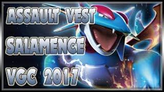 BULKY SALAMENCE ASSAULT VEST STYLE! | VGC 2017 | Pokemon Sun & Moon LIVE VGC Wifi Battle Spot #94