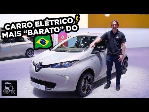 ⚡️Esse é o Carro Elétrico mais barato do Brasil: Veja de perto o Renault Zoe (e repare no interior)
