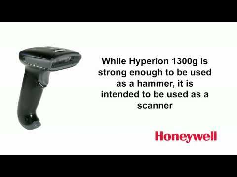 Honeywell Hyperion 1300g Barcode Scanner - Linear Imaging  video thumbnail