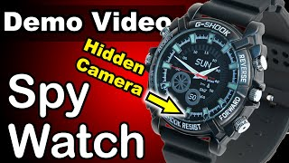 1080p HD Spy Watch - with Night Vision and Motion Detect - BEST DEMO!