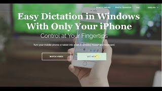 Using iPhone App Remote Mouse with Windows - Easy Dictation