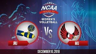 NCAA 94 Women's Volleyball: JRU vs.MU   December 10, 2018