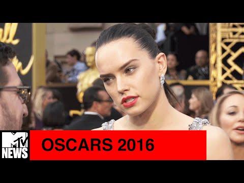 Star Wars' Star Daisy Ridley Talks Episode VIII at 2016 Oscars   MTV News