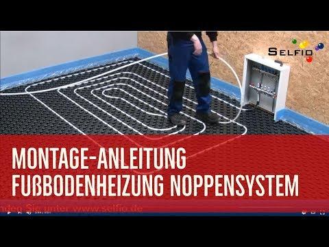 Selfio Fußbodenheizung Noppensystem verlegen - ideal für die Ein-Mann-Montage