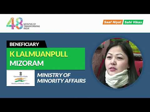 I thank Ministry of Minority Affairs for organising Hunar Haat – K Lalmuanpull, Mizoram