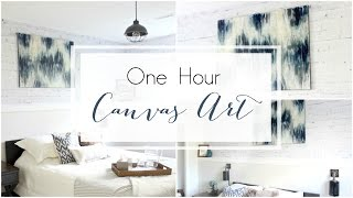 DIY Canvas Art | Large Scale DIY Acrylic Painting [in Less Than An HOUR!]