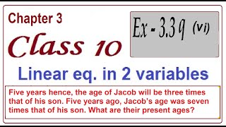 Five years hence, the age of Jacob will be 3 times  of his son. Five years ago, Jacob's age was 7