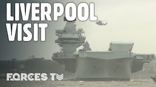 On Board HMS Prince Of Wales As The Aircraft Carrier Visits Liverpool | Forces TV