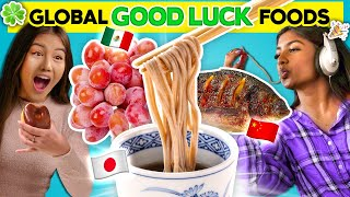 We Tried Lucky New Years Foods From Around the World I People Vs Food