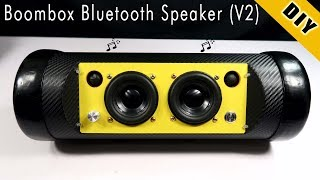 How To Make Boombox Bluetooth Speaker Using Pipe Plastic (New Version)