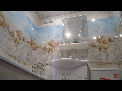 Отделка стен в ванной за 1 день пластиковыми панелями. Недорогой ремонт в ванной своими руками!