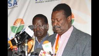 Raila Odinga, Kalonzo Musyoka to be sworn-in after postponement of ceremony
