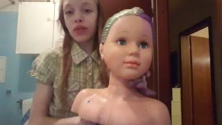 Ich färbe einen Frisur Kopf die Haare!! |Plastik Haare | Mein erstes Video | Dominika