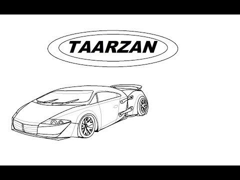DRAW TARZAN: THE WONDER CAR IN MS PAINT EASILY,DC