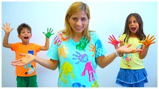 Learning All the  Colors for Children using Paint and Songs