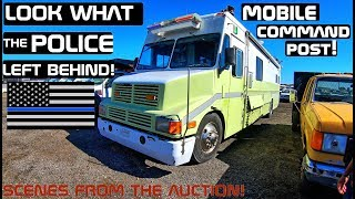 Look What The Police Left Behind Mobile Command Post! Scenes from the Auction!