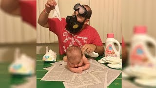 Changing Diapers gone wrong 😝 July 2018  funny moments
