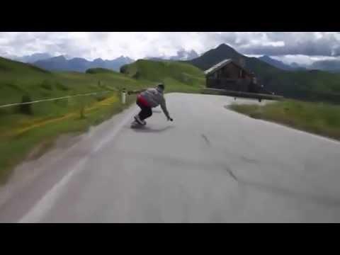 крутой спуск на скейте