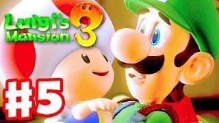 Luigi's Mansion 3 - Gameplay Walkthrough Part 5 - Rescuing a Toad! 3 Boos! (Nintendo Switch)