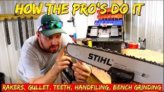 How the Pro's sharpen a chainsaw