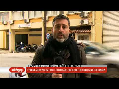 Γυναίκα απειλούσε να πέσει στο κενό από την ταράτσα του Πρωτοδικείου Γιαννιτσών | 04/02/2019 | ΕΡΤ