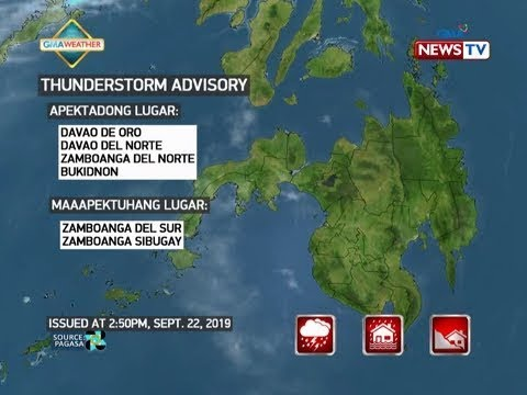 [GMA]  NTVL: Weather update as of 3:50 PM (September 22, 2019)